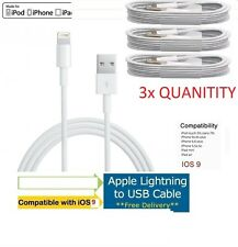 3X Apple USB Charger Lightning Sync Data Cable Lead Genuine for iPhone 7 6+ 6S 5