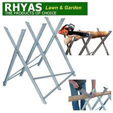 Rhyas Log Horse Saw Horse Chainsaw Folding Sawhorse Serrated Grip