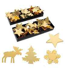 48 Christmas Present Gold Gift Tag Decorations Tree Star Snowflake Reindeer 6457