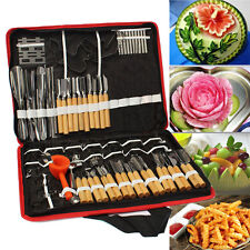 80pcs/Set Portable Vegetable Fruit Food Wood Box Peeling Carving Tools Kit Pack