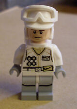 Lego Star Wars Hoth Rebel Trooper White Uniform ( Figur weiß Brille ) Neu