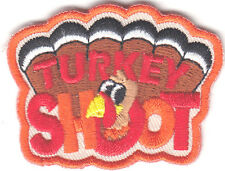 """TURKEY SHOOT"" PATCH /Iron On Embroidered Patch/Sport, Games, Competition"