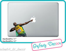 Adesivo Usain Bolt  per Mac Book Pro/Air 13 - Stickers  Usain Bolt MacBook 13