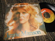 "JEANE MANSON Avant de nous dire adieu/I love you 7"" 1976 CBS FRANCE"