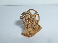 VINTAGE 14k YELLOW GOLD 3D MOVEABLE FERRIS WHEEL CHARM
