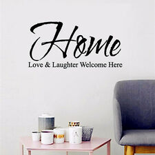 Living Room Wall Sticker Home Love Laughter Quote Removable Vinyl Wall Sticker
