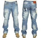 MENS BRAND NEW KOSMO LUPO JEANS IN BLUE LIGHT WASH COLOURS ALL SIZES 30 TO 38