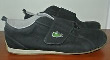 LACOSTE MENS ATHLETIC CANVAS WALKING SHOES SZ U.S. 9