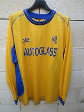 Maillot CHELSEA away UMBRO shirt 2002 football AUTOGLASS vintage manches longues