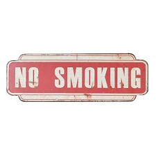 Vintage style metal wall sign NO SMOKING plaque shabby chic