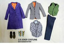 IN STOCK  new pattern 1/6 Custom Joker Heath Ledger  Costume DX01 DX11