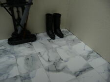 "OFFERTA DI PRIMAVERA 25 Marble-ESCO 12th DARK VENATO BIANCO 1"" Dolls House Floor Tiles"