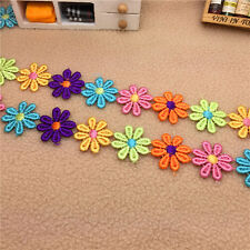Hot 1yards Beautiful Fashion Blending Flower Applique Embroidered Trim  HB21 G1y