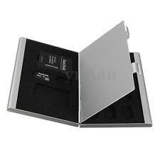13 Aluminum Boîte Étui Rangement Protection Case Pr Carte Mémoire Micro SD TF