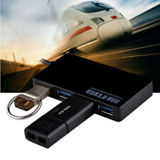 Super Speed 4-Port USB 3.0 Hub 5Gbps Portable Compact For PC Notebook Desktop