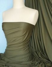 KHAKI COTONE VISCOSA STRETCH Lycra Fabric Q300 KH