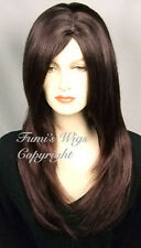 Side Part Face Frame Wig In Dark Brown / 100% Japanese Fibre Brilliant Quality