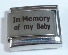 IN MEMORY OF MY BABY Italian Charm - With Sympathy I Love fits 9mm Bracelets