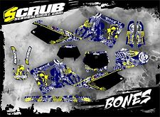 SCRUB Husqvarna graphics decals kit WR 125 - 250 2000 - 2004 stickers '00-'04