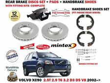 FOR VOLVO XC90 T6 D3 D5 V8 3.2 2002-  REAR BRAKE DISCS SET + PADS + FITTING KITS