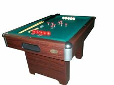 BUMPER POOL TABLE in WALNUT with CUE STICKS & BALLS~SLATE BED~ NEW