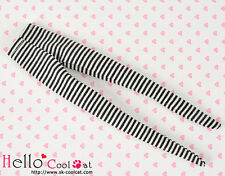 ☆╮Cool Cat╭☆【PP-112】Pullip Pantyhoses Doll Socks # Thin Stripe Black+White