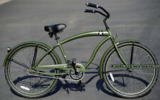 "Steel Frame, Micargi The General Man's 26"" Wheel 1-speed Beach Cruiser Bike"