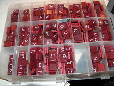 SOLD SEPARATELY! SCRABBLE DELUXE BURGUNDY/MAROON TILES  - U PICK YOUR LETTERS