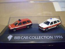 51 Herpa 1/87 Michelin Man Bib-Car-Collection 1996 VW 2 car PC set Feuerwehr