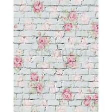 5x7FT Vinyl Photography Backdrops Brick Wall Flower Baby Photo Background Props