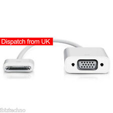 iPad 2 3 iPhone 4S Dock Connector to VGA Adaptor Cable Lead Projector iOS 8.4