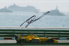 Ralph Firman Hand Signed Jordan Ford F1 12x8 Photo 4.