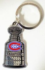 MONTREAL CANADIENS - NHL LICENSED STANLEY CUP KEYCHAIN - ALL YEARS - NEW!