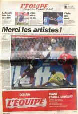 Cahier Spécial Coupe du Monde de L'équipe n°17519 du 4 juin 2002 - Football