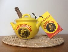 Ceramic COLMAN'S MUSTARD CLUB Mustard Pot and Spoon Very Rare Collectors