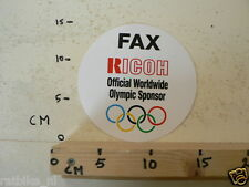 STICKER,DECAL RICOH FAX OFFICIAL WORLDWIDE OLYMPIC SPONSOR