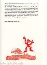 MAX ERNST LITHOGRAPHIE 1970 ALICE AU PAYS DES MERVEILLES 1970 LITHOGRAPH