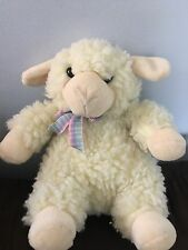 Manhattan Toy Vintage Plush LAMB Sheep Easter Stuffed Animal Toy 1993 Nubby Fuzz