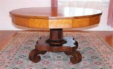 American Empire Cherry Bird's-eye Maple Mahogany Occasional Table C. 1830's