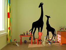 "Giraffes kids room childrens nursery vinyl wall decal graphic 22""x15"" Bedroom"