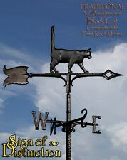 "Whitehall Black Cat 30"" Traditional Rooftop Weathervane Ships FREE with Mount"