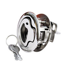 "2PCS MARINE BOAT LOCKING STAINLESS STEEL 316 FLUSH PULL LATCH HATCH LIFT 2""D"