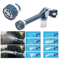 Jet Water & Soap Dispenser Cannon 8 Nozzle Multifunction Garden Car Spray Gun
