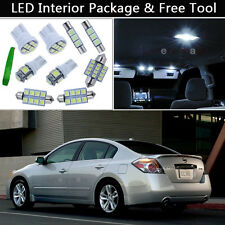 8PCS White Xenon LED Interior Car Lights Package kit Fit 07-12 Nissan Altima J1