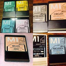 "12 Korg M1 Cards In1 Disk""COLECTION""For Korg T1,T2,T3,EX,Organ,piano,Brass,read!"