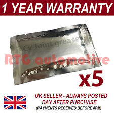 5 X 60g GREASE SACHET FOR USE WITH CV JOINTS DRIVESHAFTS GAITERS