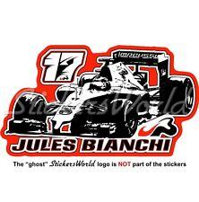 JULES BIANCHI JB 17 Formel 1 Automobilrennfahrer 130mm Vinyl Sticker, Aufkleber