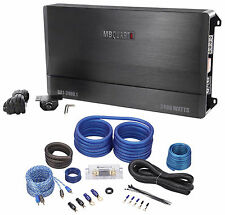 MB Quart DA1-2400.1 2400W RMS Mono Class D Car Audio Discus Amplifier+Amp Kit