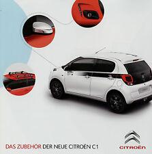 Prospekt Citroën C1 Zubehör 2014 Broschüre Citroen Autozubehör accessoires broch
