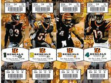 2012 CINCINNATI BENGALS TICKET STRIP STUB ATTACHED JETS PACKERS BROWNS DOLPHINS